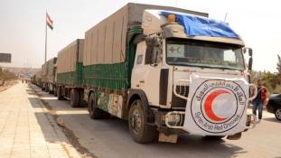 A tűzszünet hozadéka: több mint tízezer család jutott segélyhez Aleppó tartományban