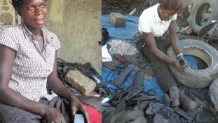 Leleményesség, avagy szandálok gumiabroncsból Ugandában