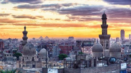Naplemente Kairóban.
