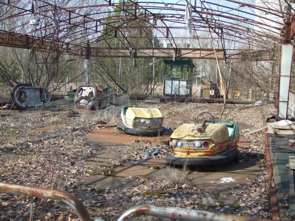 A vidámpark dodzsemeit 30 éve senki nem használta Pripjatyban