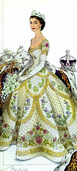 Coronation dress of Queen Elizabeth II by Norman Hartnell