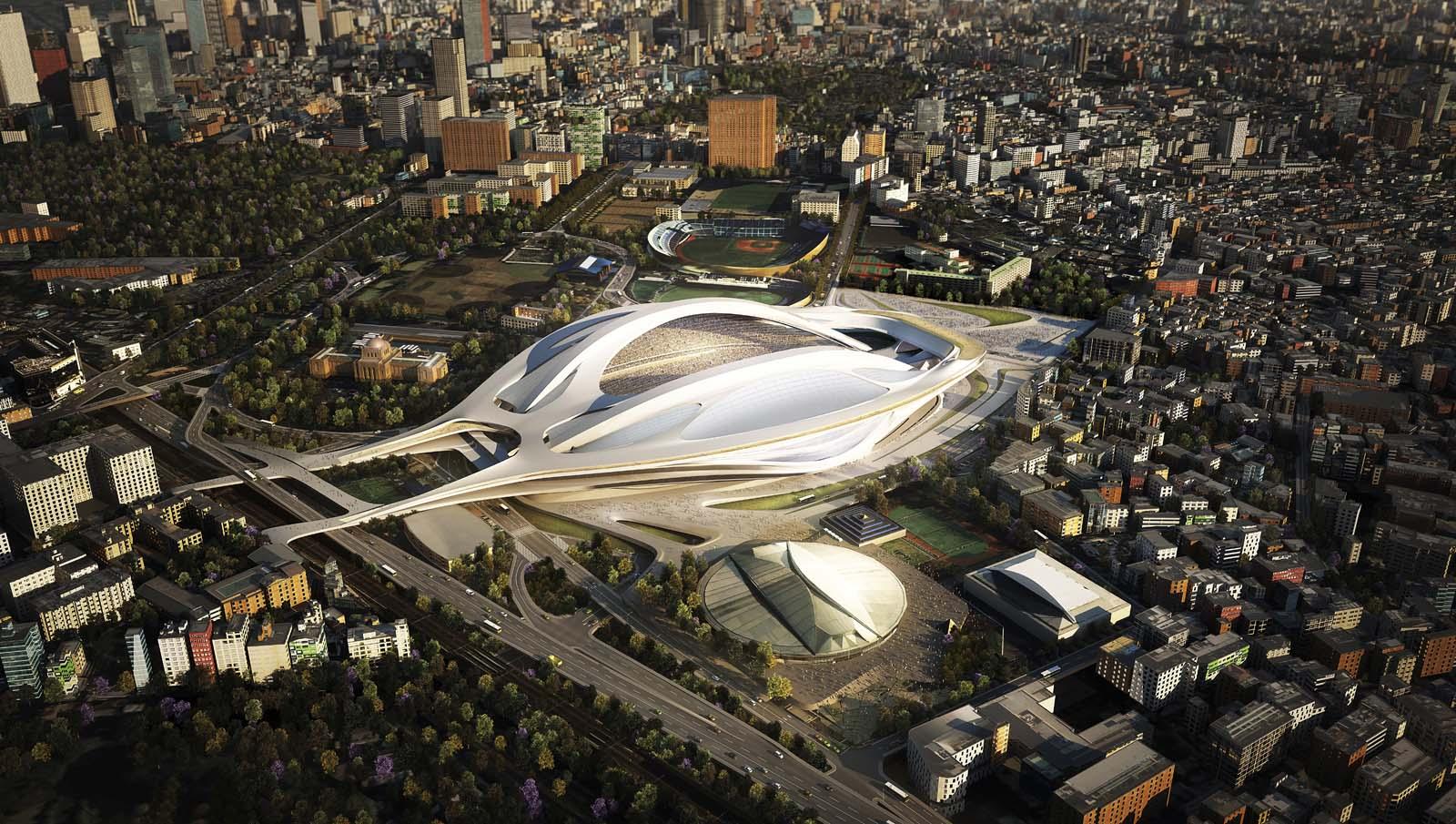 Ez lett volna az olimpiai stadion. Tokió, Japán