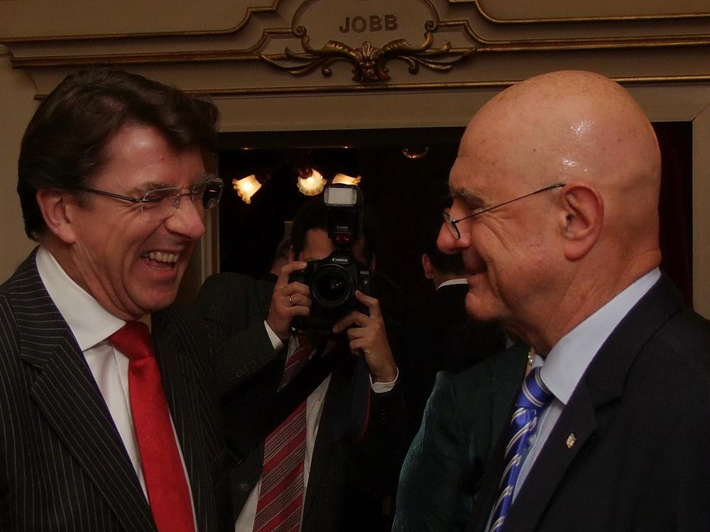 Iain Lindsay, az Egyesült Királyság új budapesti nagykövete és Ilan Mor