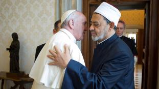 A pápánál járt az al-Azhar nagyimámja
