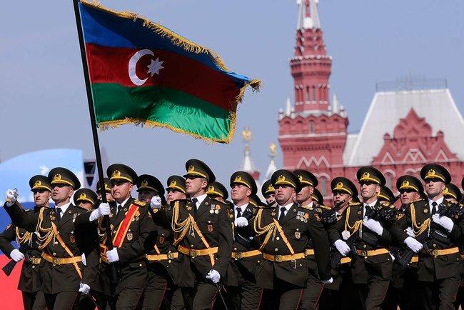 Azeri kontingens a moszkvai felvonuláson (Wikipedia)