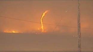 Pánik tűz miatt Dél-Kaliforniában