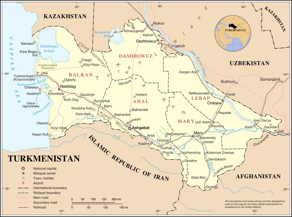 türkmenisztántérképw