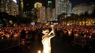 A Tienanmen téri vérengzésre emlékeztek