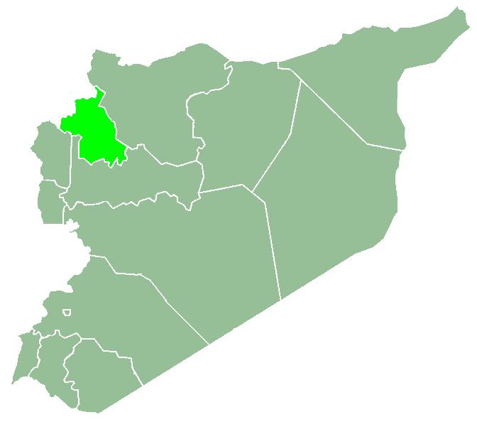Idlib tartomány Szíriában (Wikipedia)