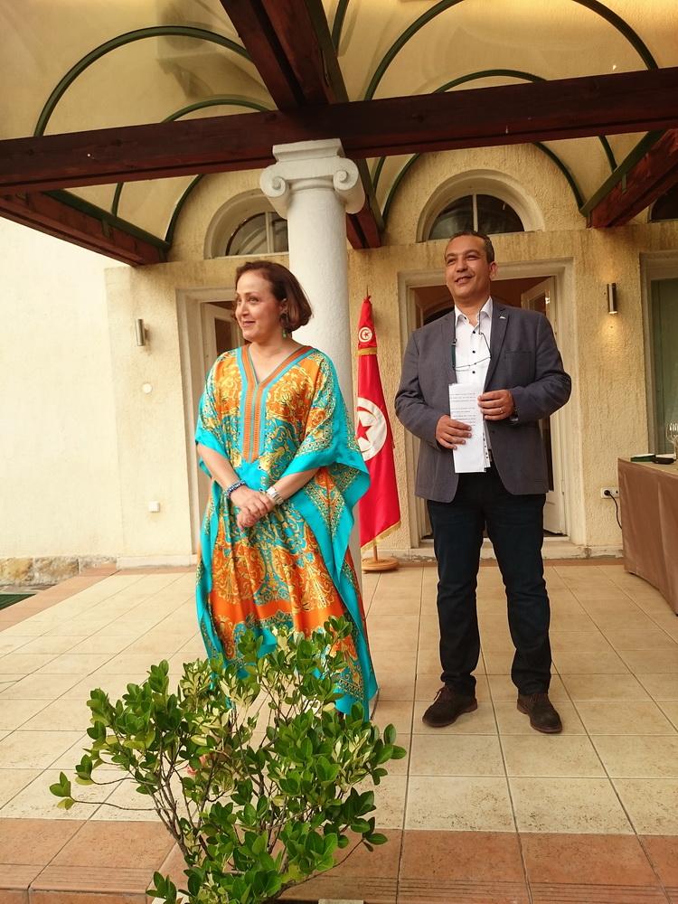 Samia Ilhem Ammar nagykövetasszony  és Leith Ben Zakour.