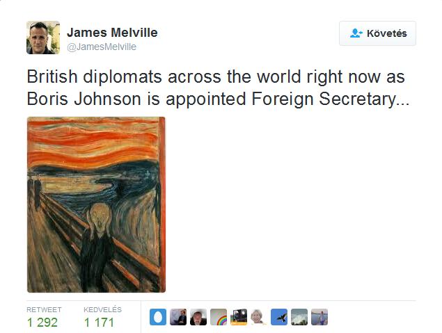 Így reagálnak világszerte a brit diplomaták Boris Johnson kinevezésére.