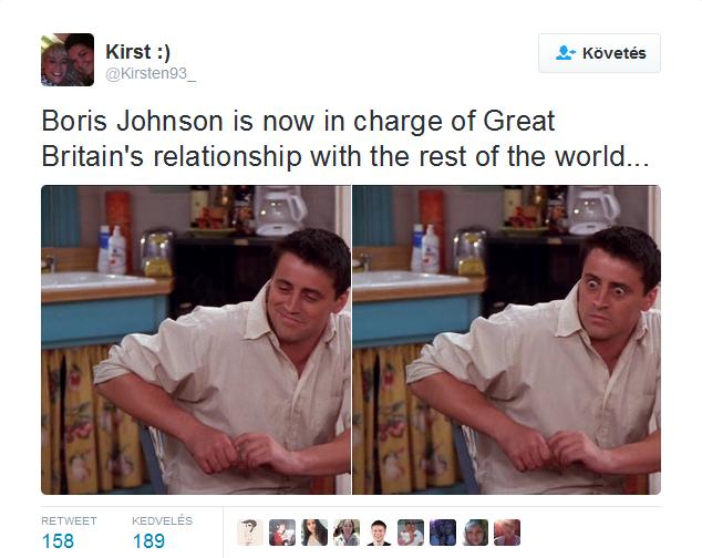 Boris Johnson felel Nagy-Britannia kapcsolataiért a világ többi részével...