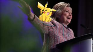 Hillary Clinton Pokémonokkal kampányol