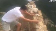 Ez a férfi lekungfuzta a kínai nagy falat