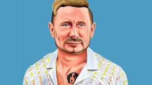 Tetoválás, körszakáll és fülbevaló: Putyin, a hipszter