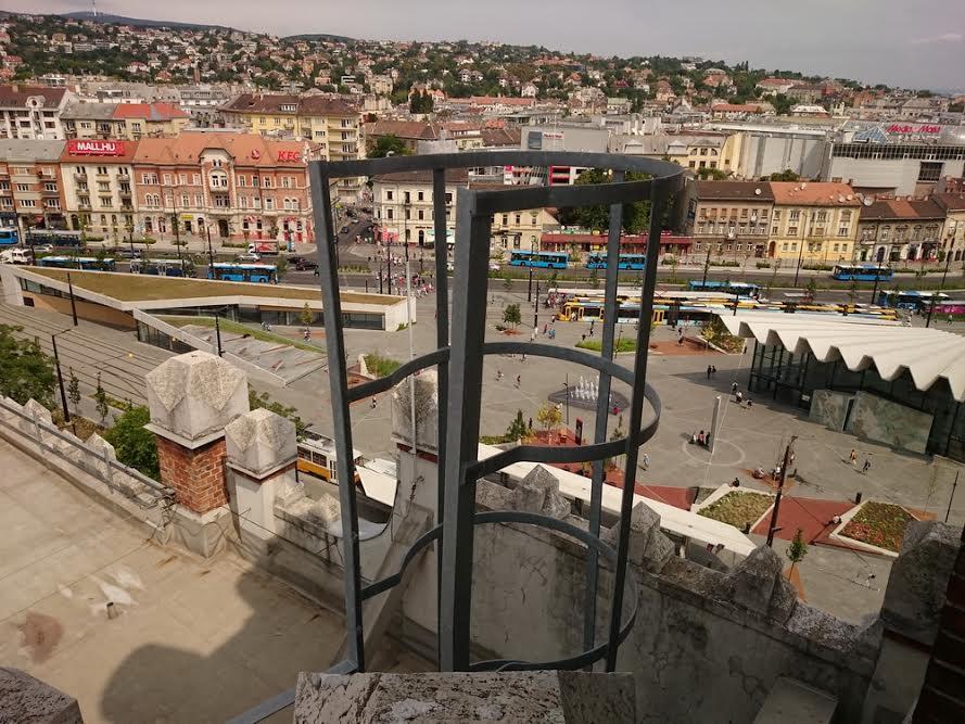 Ilyen a Széll Kálmán tér a majdani kilátótoronyból.