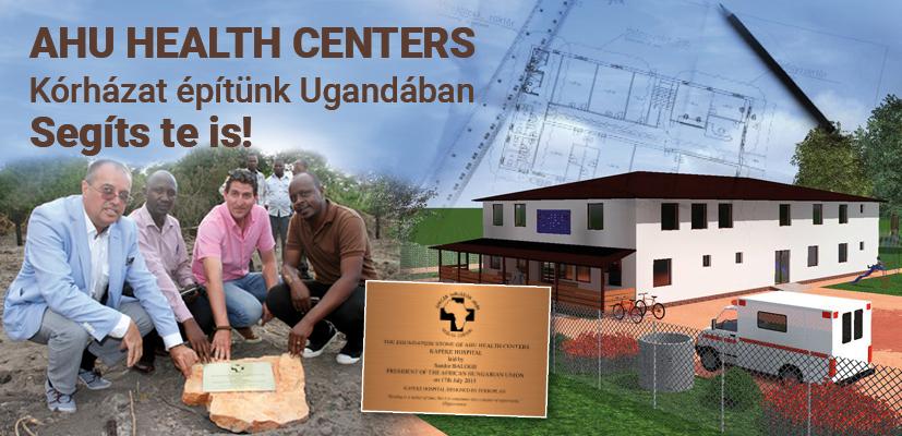 Ilyen lesz a kórház. Az alapkő letételénél Balogh Sándor, az AHU elnöke bal oldalon.