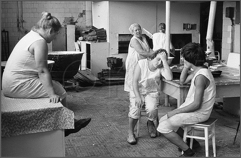 Pihenő a pékségben - Ongudaj, 1980