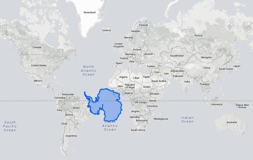 Brazília mellett az Antarktisz