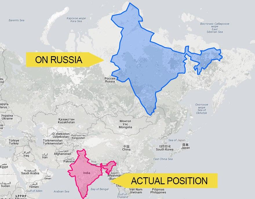 India Oroszországon