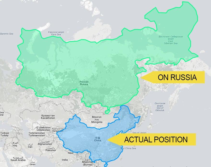 Kína Oroszországon