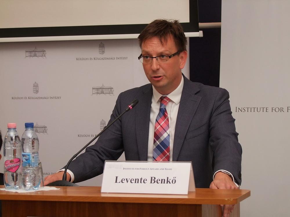 Benkő Levente, a Külgazdasági és Külügyminisztérium biztonságpolitikáért felelős helyettes államtitkára.