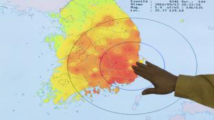 Egész Dél-Koreában megmozdult a föld