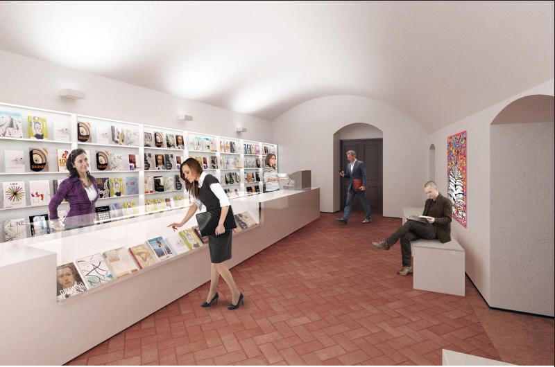 A földszinten könyvesbolt is lesz majd.