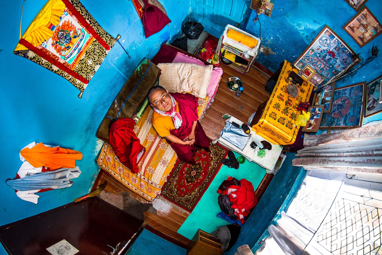 385. szoba, Pema, 22 éves buddhista szerzetesdiák, Katmandu, Nepál