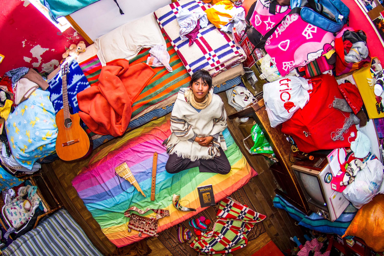 665. szoba, Marcello, 18 éves gimnazista, La Paz, Bolívia