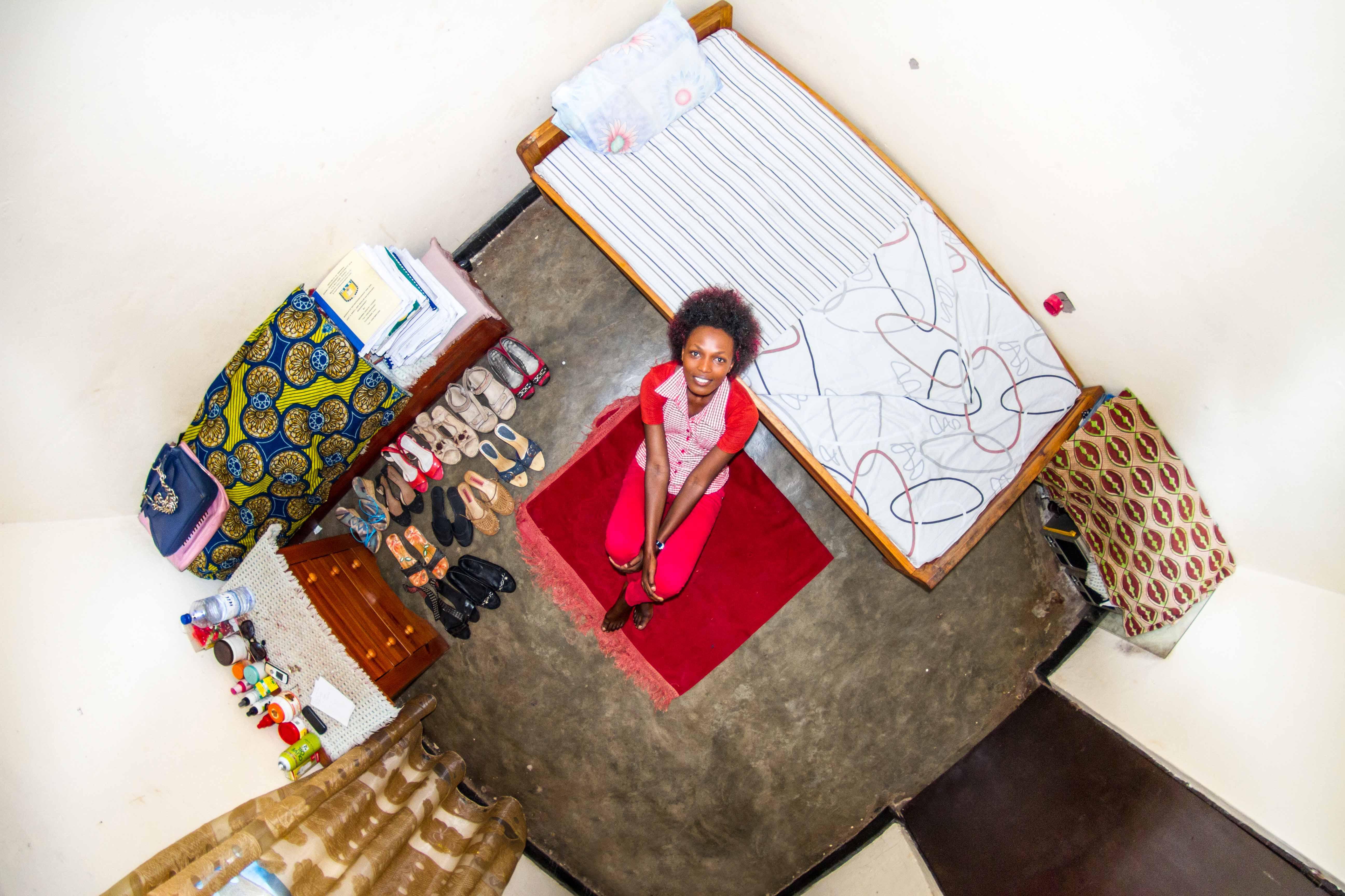 915. szoba, Josee, 22 éves egyetemista, Kigali, Ruanda