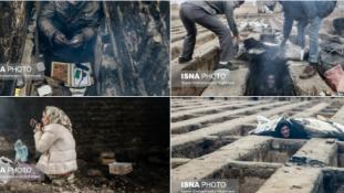 Megrázták Iránt a sírokban élő hajléktalanok képei
