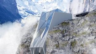 Hihetetlen futurisztikus hotelt tervezett egy ukrán építész az Alpokba