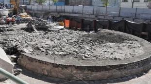 Azték templomot találtak egy pláza építése közben Mexikóban