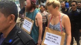 Így járnak a tolvajok: szégyenséta Indonéziában