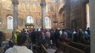 Robbanás a kopt katedrálisnál Kairóban, több, mint 20 halott – videó