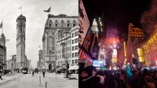 Akkor és most: ilyen egy New York-i szilveszter a Times Square-en