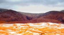 Ilyen egy havazás a Szaharában