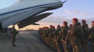 Csecsen zászlóalj járőrözik a felszabadított Aleppóban