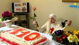 110. születésnapján a hosszú élet titkát is felfedte az apáca