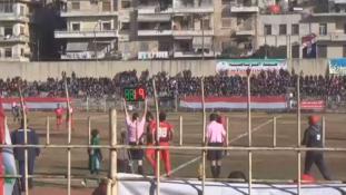 Az első futballmeccs a harcok után Aleppóban – videó