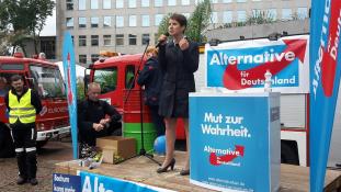 Az elnökasszony magánya – zűrzavar a szélsőjobb kongresszusán Németországban