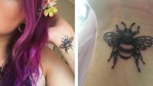 Méhecskés tetoválással tisztelegnek Manchester lakói az áldozatok előtt