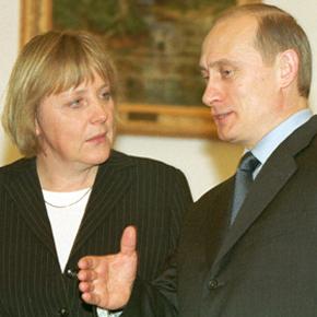 Merkel-Putyin találkozó Moszkvában, 2002-ben.