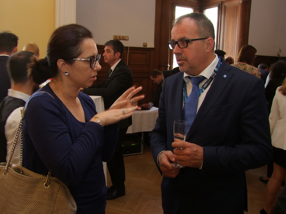 Karima Karbaj, Marokkó nagykövete és Balogh Sándor.