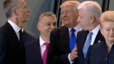 Trump kissé agresszíven nyomul a brüsszeli NATO-csúcson – videó