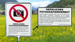 Megtiltották a turistáknak a fotózást egy svájci faluban