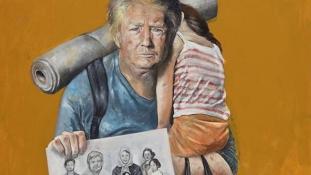 Így nézne ki Donald Trump, ha szíriai menekült lenne