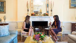 Beköltözött Melania Trump is a Fehér Házba