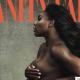 Ikonikus fotó: terhes és pucér teniszbajnok a címlapon